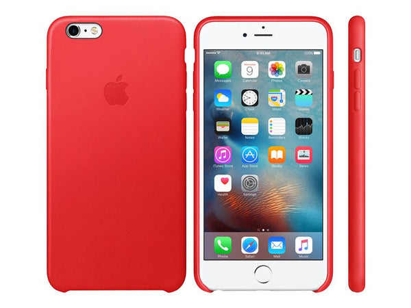Apple Back cover for mobile phone leather red
