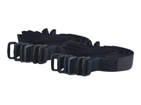 C2G 280mm Hook-and-Loop Cable Management Straps Black