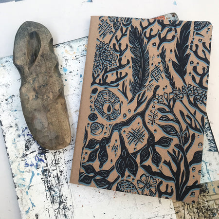 Hand printed sketchbook