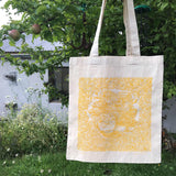 Time organic cotton tote bag