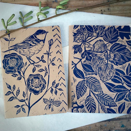 Wild bird & bee sketchbook journal