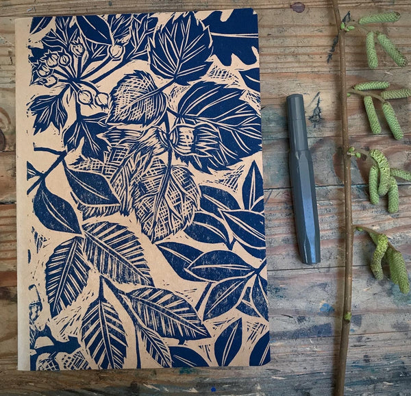 Tregagle leaf sketchbook journal