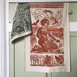 Grounded, organic cotton tea towel by Lou Tonkin
