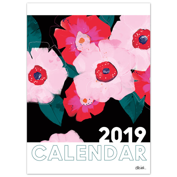 2019 Ettie Ink Wall Calendar