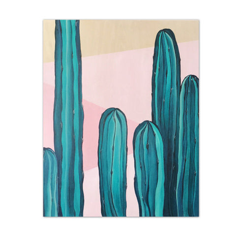 Cacti | Wood Panel