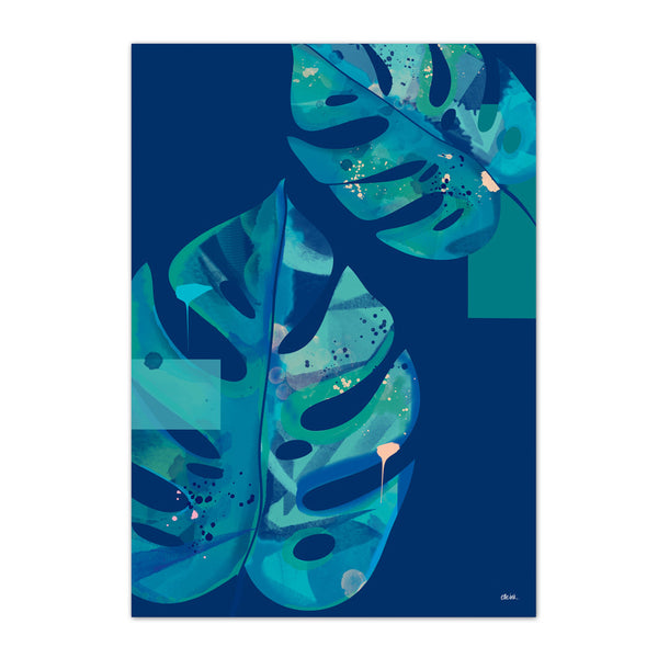 Monstera | Navy