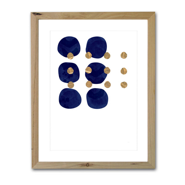 Spots | Navy and Gold