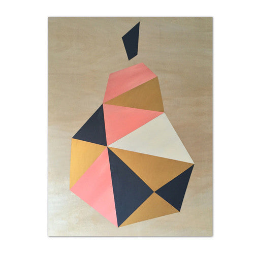 Geo Pear | Peach and Gold