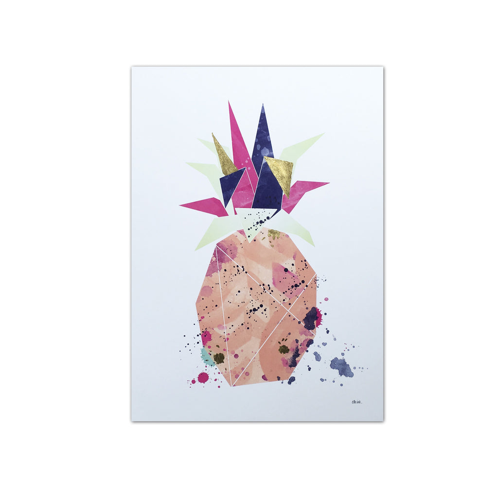 Tropical Pineapple with Gold Leaf