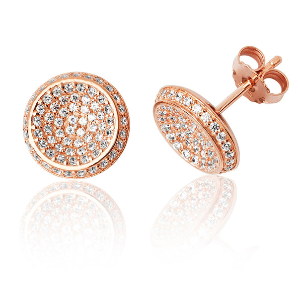 Beautiful 925 Sterling Silver Ladies Stud Earrings with Cubic Zirconia/CZ Picture 1