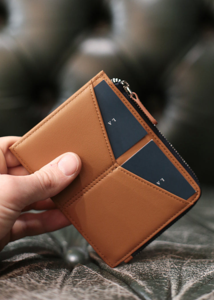 The Id Wallet - Portefeuille Slim Camel