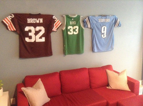 Image of Football Jersey Mount-Jersey Mount-Sports Displays