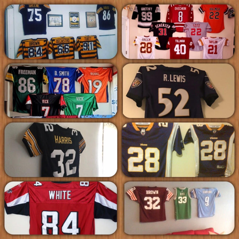 Super Bowl 5 PACK DEAL-Jersey Mount-Sports Displays