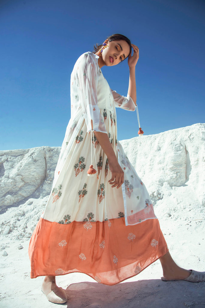 Moroccan Maxi with Chiffon summer jacket