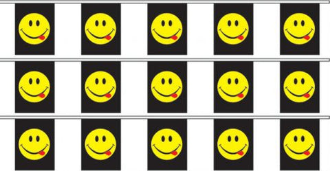 Acid Smiley Bunting - Wind Creations