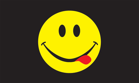Acid Smiley Flag -