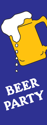Beer Party Banner Flag -