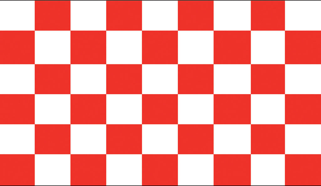 Chequered Red & White Flag -