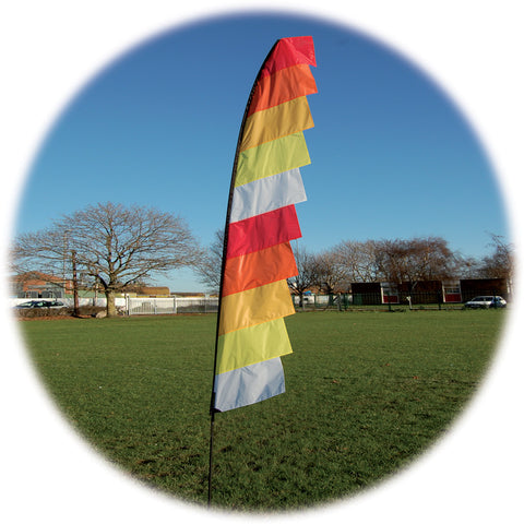 Feather Banner - Hot - Wind Creations