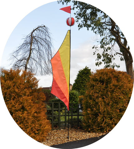 Festival Ball Banner Kite - Hot - Wind Creations - 1