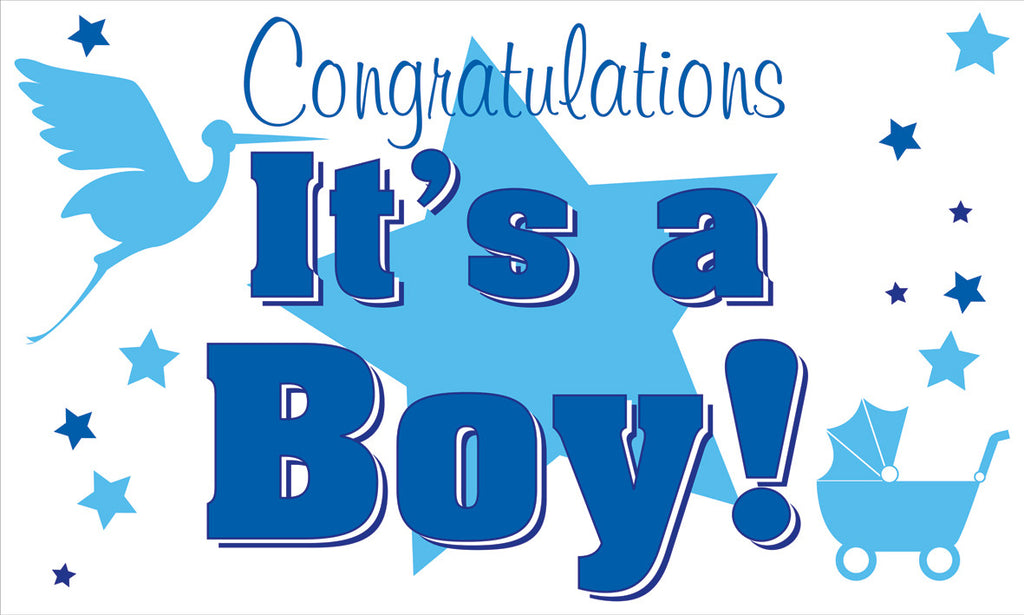 It's A Boy Flag - Wind Creations