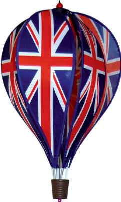 Hot Air Balloon Spinner - Union Jack - Wind Creations - 1