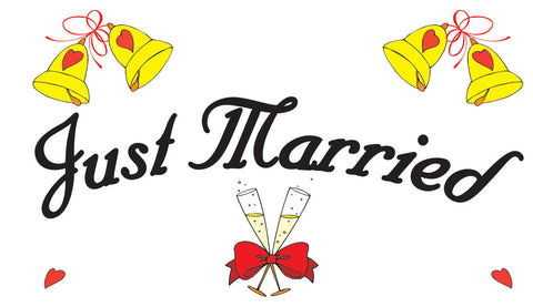 Just Married Flag - Wind Creations