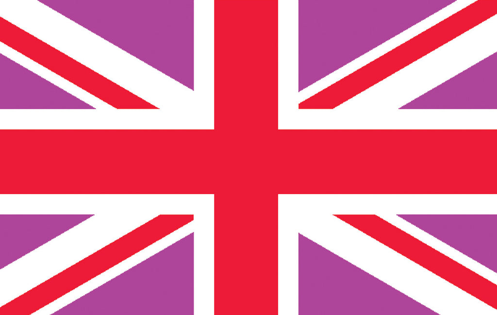 Pink & Red Union Jack Flag - Wind Creations