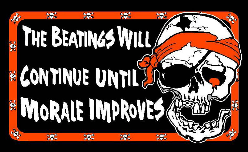 Pirate The Beatings Will Continue Flag - Wind Creations