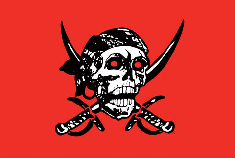 Pirate Skull Red Flag - Wind Creations