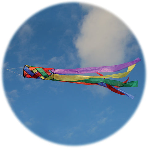 Rainbow Lattice Windsock - Wind Creations