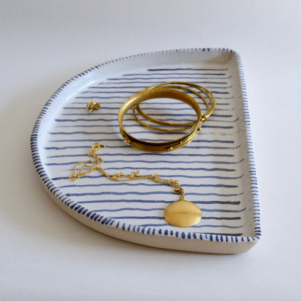 Blue and White arc platter