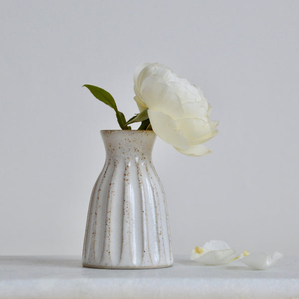 Fluted bud vase ~ **Seconds**