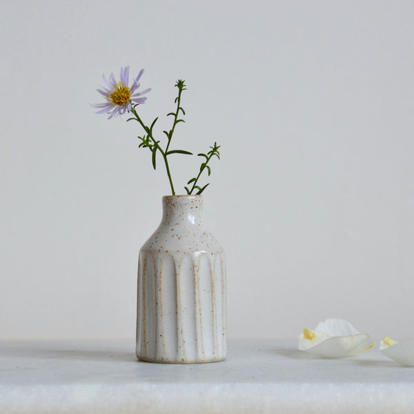 Miniature fluted bud vase ~ **Seconds**