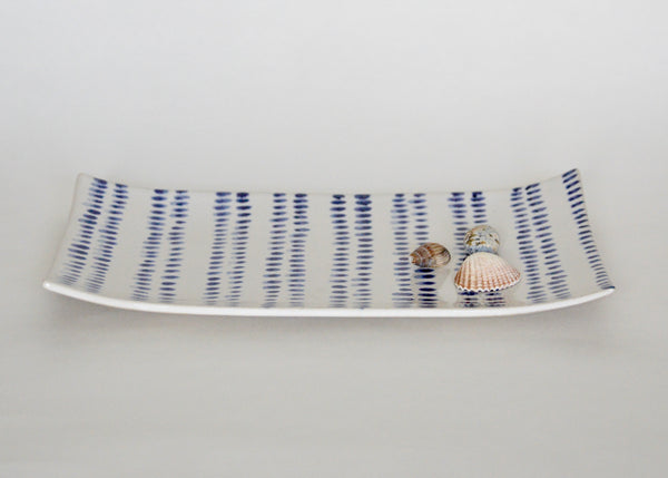 Blue and White platter II