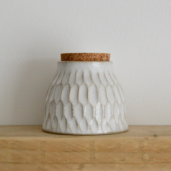 Faceted vessel with cork I