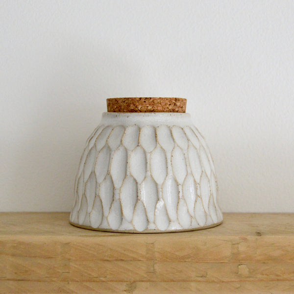 Faceted vessel with cork II