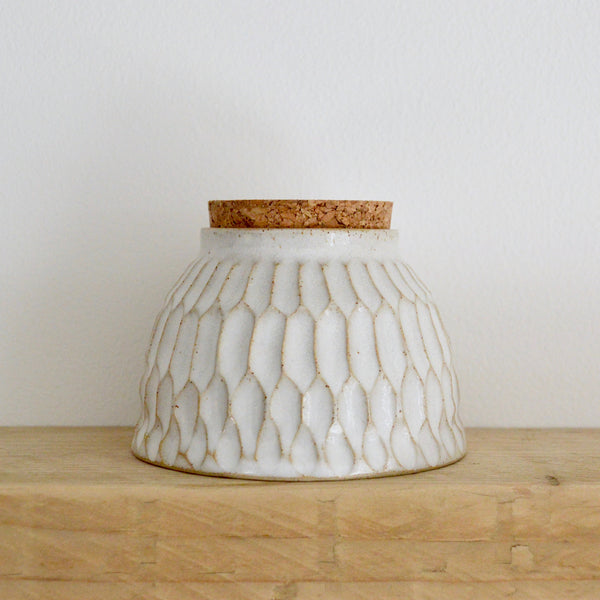 Faceted vessel with cork III