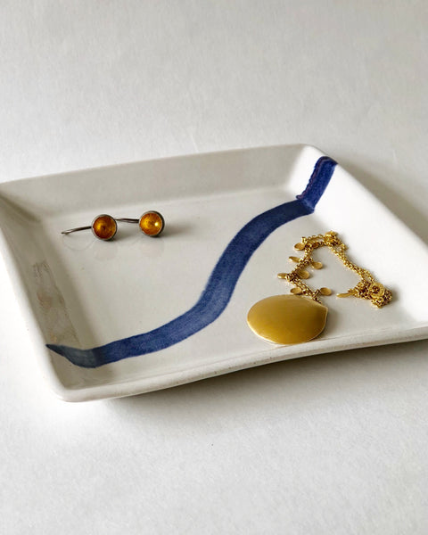 Blue and White square dish II