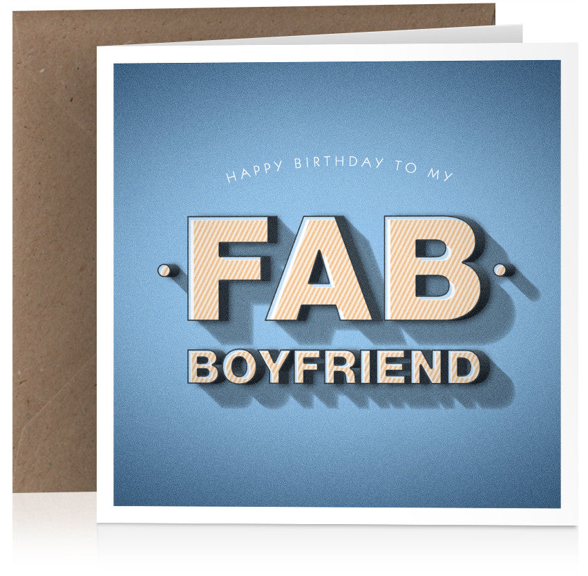 Fab boyfriend (birthday) x 6
