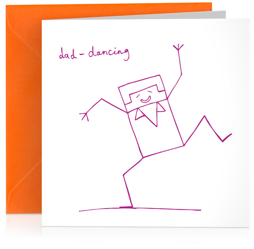 'Dad-dancing' humorous card – suitable for birthday and Fathers Day