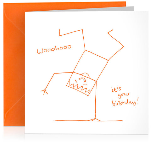 'Woohoo' humorous birthday card