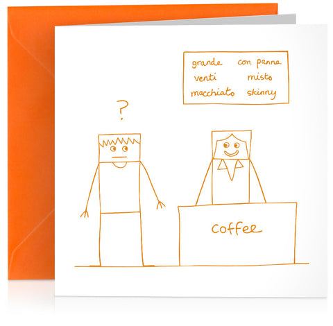 'Coffee' humorous birthday card