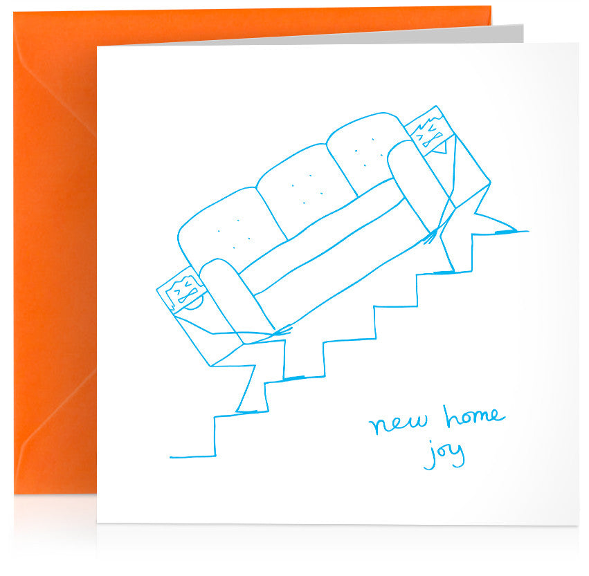'New home joy' humorous card