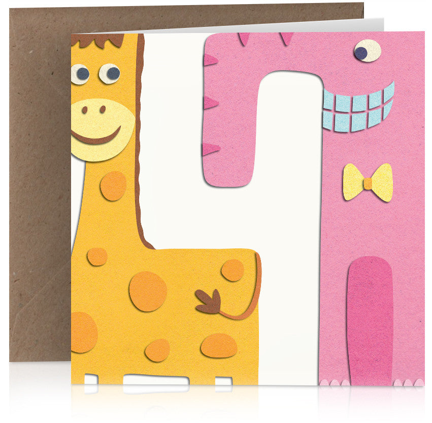 Giraffe and elephant (four) x 6