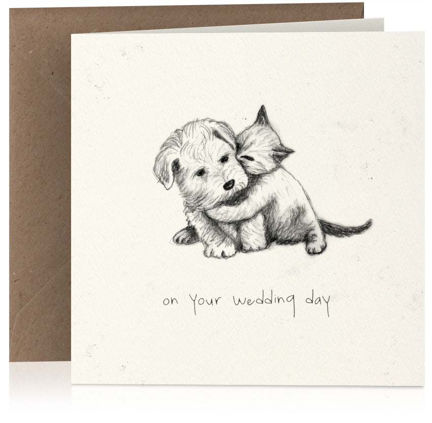 Kitten and puppy wedding x 6