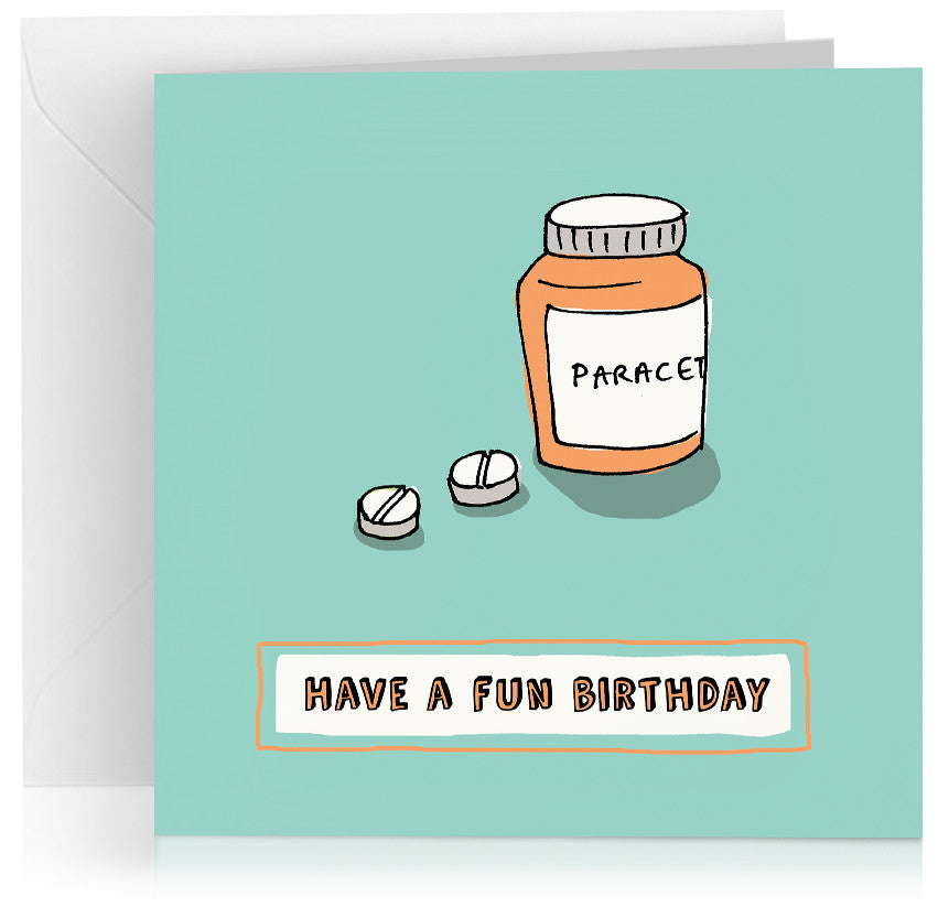 'Paracetamol' humorous birthday card