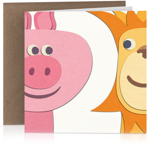 Pig and lion (two) x 6