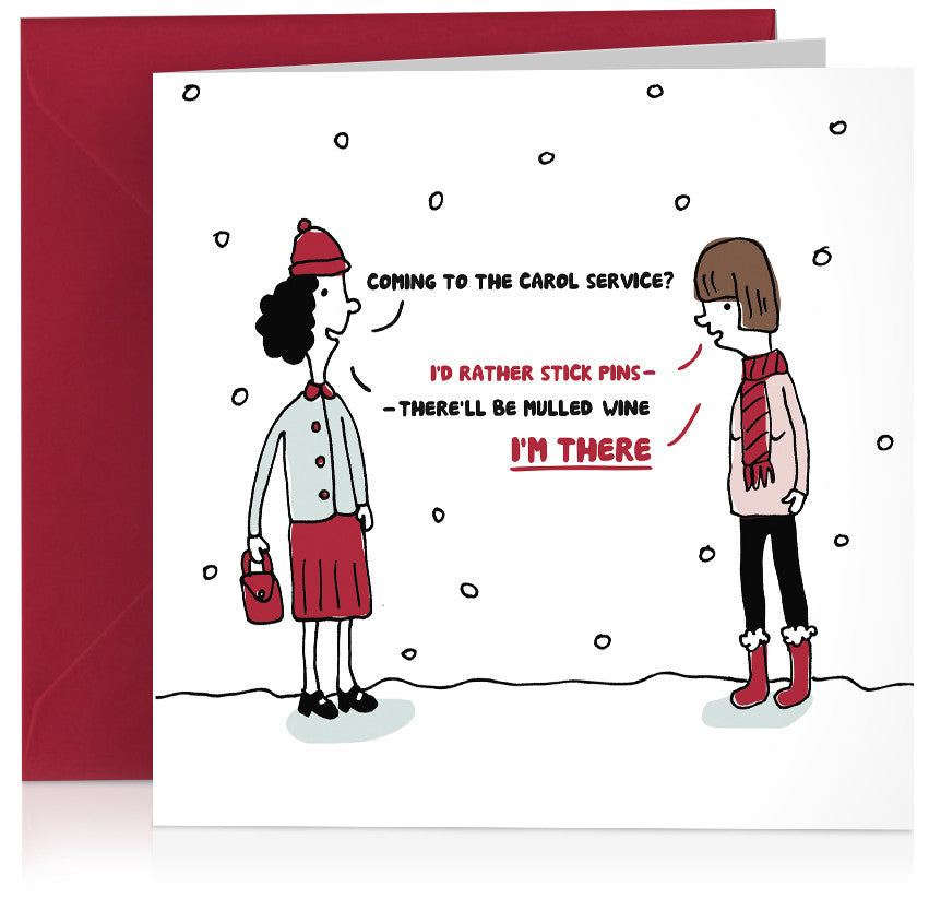 'Carols' humorous Christmas card