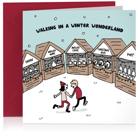 'Winter Wonderland' humorous card about Christmas markets
